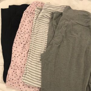 4 maternity pajama pants